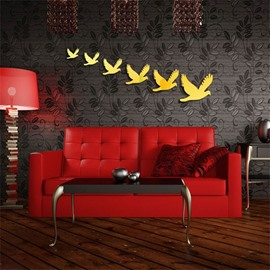 Classic Birds Pattern 3D Acrylic 3 Color TV And Sofa Background Wall Stickers
