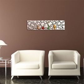 Creative Rectangle Pattern 3 Color 3D Acrylic TV And Sofa Background Wall Stickers