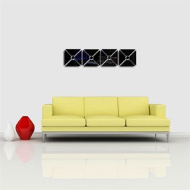 Classic Square Shape 3D Acrylic TV And Sofa Background Wall Stickers