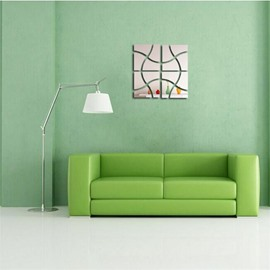 3 Color Abstract Square Pattern 3D Acrylic TV And Sofa Background Wall Stickers