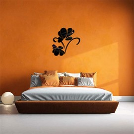 Two Flower Pattern 3 Color 3D Acrylic TV And Sofa Background Wall Stickers