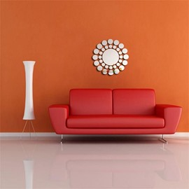 Creative Sun Shape 3 Color 3D Acrylic TV And Sofa Background Wall Stickers