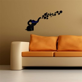 3 Color 3D Acrylic Cute Elephant Pattern TV And Sofa Background Wall Stickers