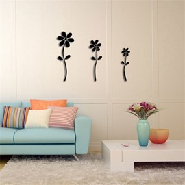 3 Color 3D Acrylic Flower Pattern TV And Sofa Background Wall Stickers
