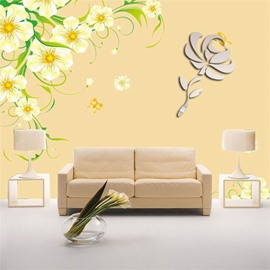 3 Color 3D Acrylic Classic Flower PatternTV And Sofa Background Wall Stickers