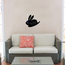 3D Acrylic 3 Color Cute Rabbit PatternTV And Sofa Background Wall Stickers
