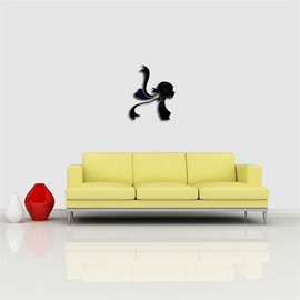 3D Acrylic 3 Color Creative Girl PatternTV And Sofa Background Wall Stickers