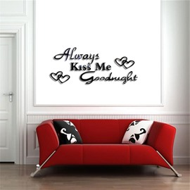Classic Love Letter Pattern 3D Acrylic TV And Sofa Background Wall Stickers