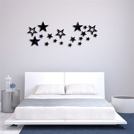 Star Pattern 3D Acrylic TV And Sofa Background Wall Stickers