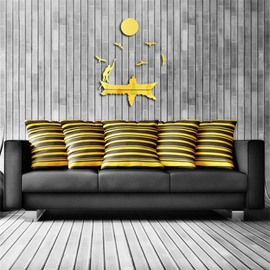 Creative Fisher Pattern 3D Acrylic TV And Sofa Background Wall Stickers