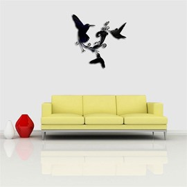 Two Birds Pattern 3D Acrylic TV And Sofa Background Wall Stickers
