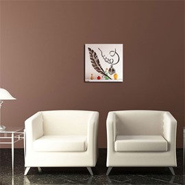 Quill Pattern 3D Acrylic TV And Sofa Background Wall Stickers