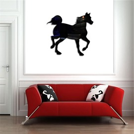 Vivid Horse Shape 3D Acrylic TV And Sofa Background Wall Stickers