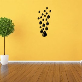 Water Drop Pattern 3D Acrylic TV And Sofa Background Wall Stickers