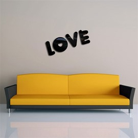 Love Letter Pattern 3D Acrylic TV And Sofa Background Wall Stickers