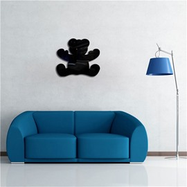 Little Bear Pattern 3D Acrylic TV And Sofa Background Wall Stickers