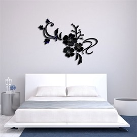 Creative Flower Pattern 3D Acrylic TV And Sofa Background Wall Stickers