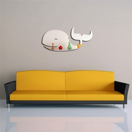 Whale Pattern 3D Acrylic TV And Sofa Background Wall Stickers