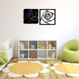 Rose Pattern 3D Acrylic TV And Sofa Background Wall Stickers