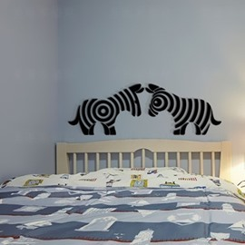 Cute Zebra Pattern Acrylic Material Living Room 3D Wall Sticker