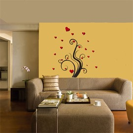 Loving Heart Tree Pattern Acrylic Material Living Room 3D Wall Sticker