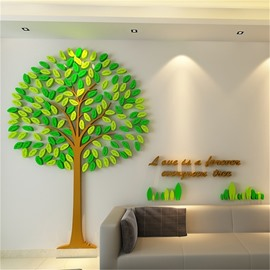 2 Color Acrylic Material Creative Tree Pattern Living Room 3D Wall Sticker