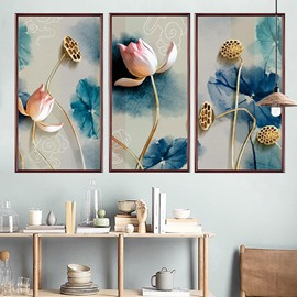 Beddinginn Creative 3D Lotus Pattern Wall Stickers / Wall Decorations