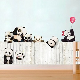 Beddinginn Cute Pandas Creative Wall Stickers / Wall Decorations