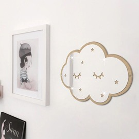 Cartoon Cloud Shape Mirror Acrylic Wall Stickers Children's Room Decoration