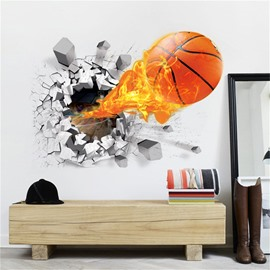 3D Basketball Wall Stickers Self-adhesive Waterproof Stickers Creative Decor