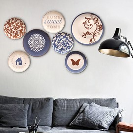 Ceramic Classic Crafts Floral Creative Plates Home Decoration Painted