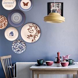 Butterfly Pattern Ceramic Wall Dec Wall Art Classic Crafts