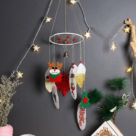 Christmas Dream Catcher Handmade Feathers Dreamcatcher Wall Hanging Decorations Ornament Craft Gift