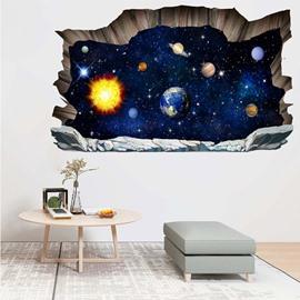 3D Galaxy Planet Wall Sticker Art Decal Decor Room Bedroom Decoration Window Stickers