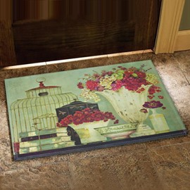European Style Beautiful Flower Vases Design Doormat