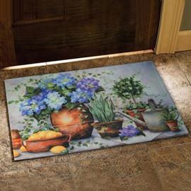 Amazing Country Style Flower Vase Prints Doormat