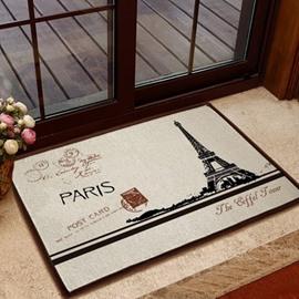 European Style Fancy Eiffel Tower Non-slip Doormat