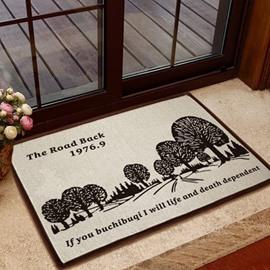 European Style Solid Trees Pattern Non-slip Doormat