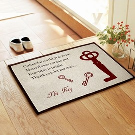 New Arrival Amazing Keys Pattern Non-slip Doormat