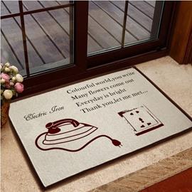 Retro Iron and Power Socket Pattern Non-slip Doormat