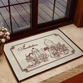 Gorgeous European Style Tea Sets Non-slip Doormat
