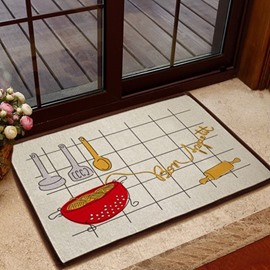 Simple Style Stretched Noodles Pattern Non-slip Doormat