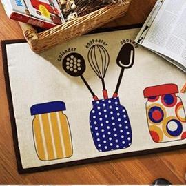 Fancy Simple Colorful Three Jars Pattern Doormat