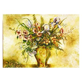 Beautiful Flowers and Vase Pattern Non-slip Doormat