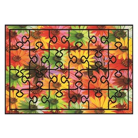 Super Beautiful Flowers Pattern Non-slip Flocking Doormat