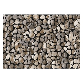 Simple Beautiful Stones Pattern Non-slip Flocking Doormat