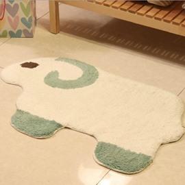 Elegant Cartoon Sheep Shape Non-slip Doormat