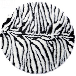 Wonderful Cool Circular Acrylic Fibres Non-Slip Doormat