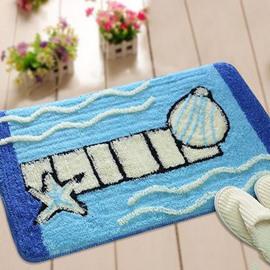 Popular Polyester Fiber and Acrylic Fibers Blue Shell Doormat