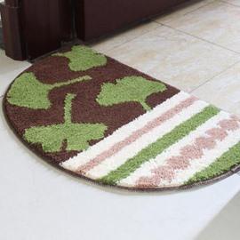 Classic Green Ginkgo Semicircle Non-Slip Doormat